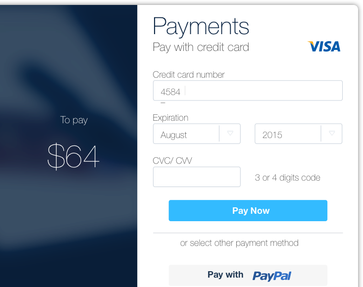 Možnosti plačevanja na spletu